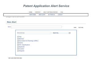 Patent Application Alert Service